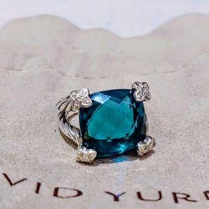 David Yurman Hampton Blue On Point ring 6 diamond
